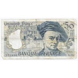 FAY 67/15 - 50 FRANCS QUENTIN DE LA TOUR - 1989 - Q.55 - PICK 152