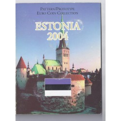 ESTONIA - PROTOTYPE COIN SET - TRIAL / PATTERN - 8 COINS - 2004