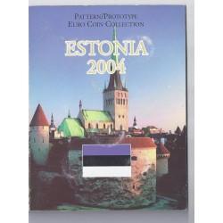 ESTONIE - COFFRET PROTOTYPE 8 PIECES - ESSAI - 2004