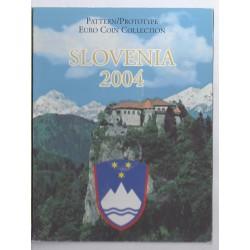 SLOVÉNIE - COFFRET PROTOTYPE 8 PIECES - ESSAI - 2004