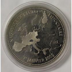 FRANCE - MÉDAILLE - NAISSANCE DE L'EURO - 1 JANVIER 2002