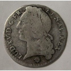 FRANCE - KM 510 - LOUIS XV - 1/20 ECU WITH HEADBAND - 1743 D