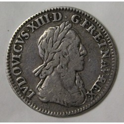 FRANCE - Gadoury 46 - LOUIS XIII - 1/2 ECU - 1642 A - 2nd HALLMARK OF WARIN - WITH ROSE