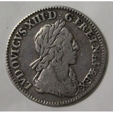 FRANCE - Gad 46 - LOUIS XIII - 1/2 ECU - 1642 A - 2nd HALLMARK OF WARIN - WITH ROSE