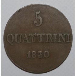 ITALIE - TOSCANE - C 65 - 5 QUATTRINI 1830