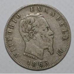 ITALIE - KM 13.1 - 20 CENTESIMI 1863 M BN