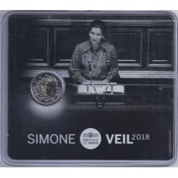 FRANCE - 2 EURO 2018 - SIMONE VEIL