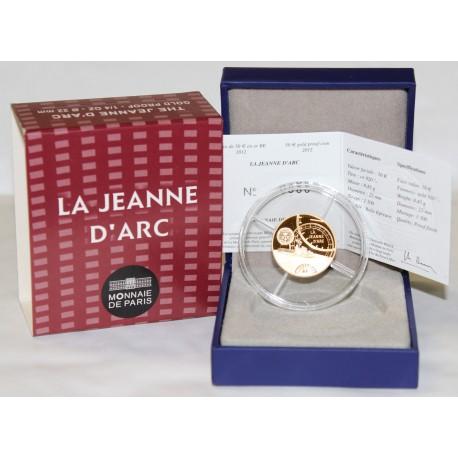 LES GRANDS NAVIRES FRANCAIS - LE JEANNE D'ARC - 50 EURO 2012 - OR - BE
