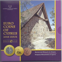 CHYPRE - COFFRET EURO BRILLANT UNIVERSEL 2018 - 3.88 euros