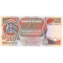 OUGANDA - PICK 32 b - 200 SHILLINGS - 1996