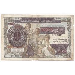 SERBIE - PICK 24 - 1000 DINARA - 01/05/1941