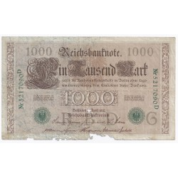 GERMANY - PICK 45 b - 1000 MARK - 21/4/1910