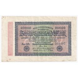 DEUTSCHLAND - PICK 85 a - 20 000 MARK - 20/02/1923