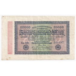 GERMANY - PICK 85 a - 20 000 MARK - 20/02/1923