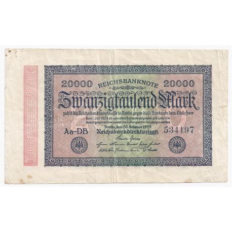 ALLEMAGNE - PICK 85 a - 20 000 MARK - 20/02/1923