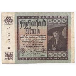 DEUTSCHLAND - PICK 81 - 5000 MARK - 02/12/1922