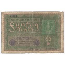 DEUTSCHLAND - PICK 66 - 50 MARK - 24/06/1919