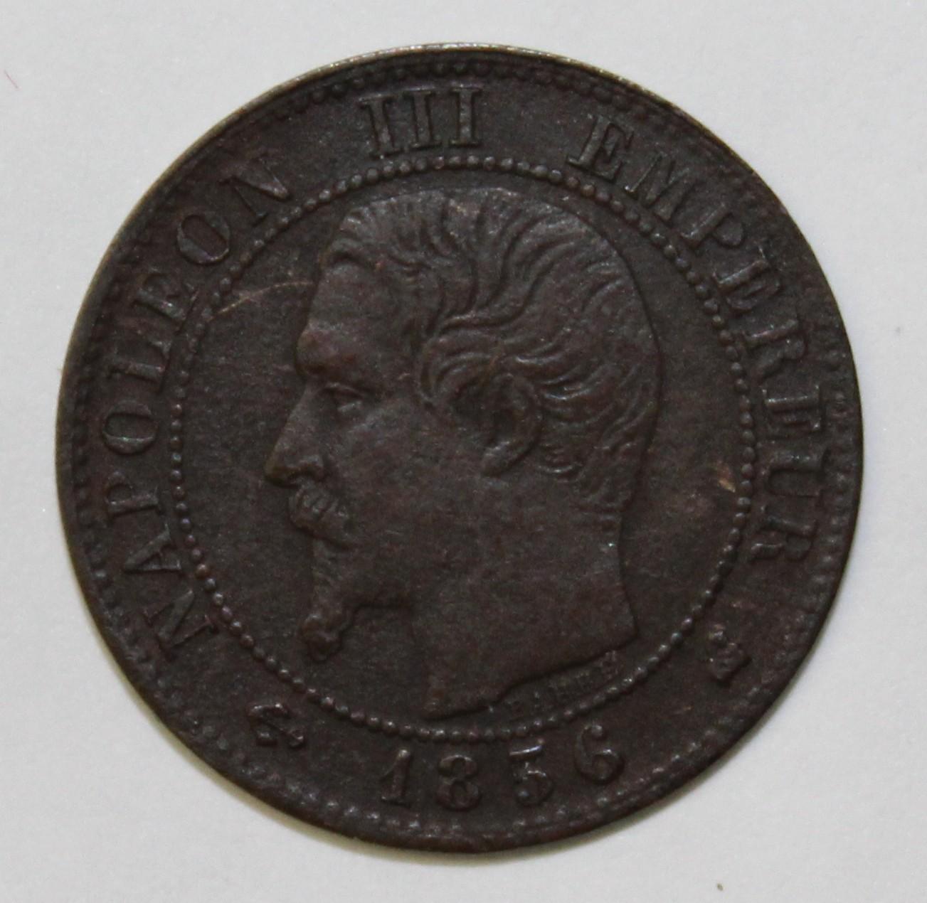 FRANCE - KM 775 1 - 1 CENTIME 1856 K BORDEAUX TYPE NAPOLEON III