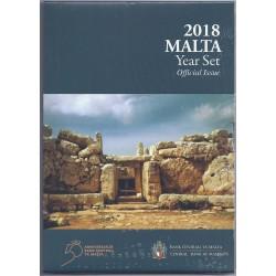 MALTE - COFFRET EURO BRILLANT UNIVERSEL 2018 - 9 PIECES (5.88 euros) incl. 2€ Mnajdra