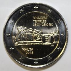 MALTE - 2 EURO 2018 - TEMPLE DE MNAJDRA