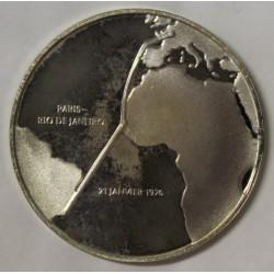 FRANCE - MÉDAILLE -1er VOL SUPERSONIQUE COMMERCIAL - PARIS - RIO DE JANEIRO - 1976