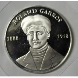FRANCE - MÉDAILLE - ROLAND GARROS 1888-1918 - 1ERE TRAVERSEE EN VOL DE LA MEDITERRANEE - ARGENT
