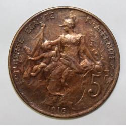 GADOURY 165 - 5 CENTIMES 1910 TYPE DUPUIS - KM 842