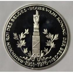 BELGIQUE - MÉDAILLE - BAUDOUIN 1er - 25 ANS DE RÈGNE - 1951 - 1976