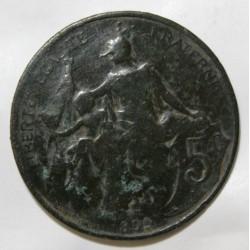 GADOURY 165 - 5 CENTIMES 1899 TYPE DUPUIS - KM 842