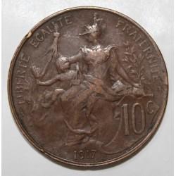 GADOURY 277 - 10 CENTIMES 1917 TYPE DUPUIS - KM 843