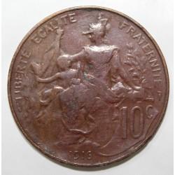 GADOURY 277 - 10 CENTIMES 1916 TYPE DUPUIS - KM 843