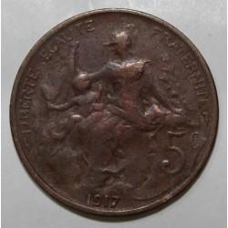 GADOURY 165 - 5 CENTIMES 1917 TYPE DUPUIS - KM 842