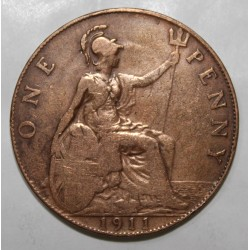 GREAT BRITAIN - KM 810 - 1 PENNY 1911 - GEORGE V