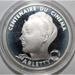 CENTENAIRE DU CINÉMA - 100 FRANCS 1995 - ARLETTY - ESSAI - KM 1945