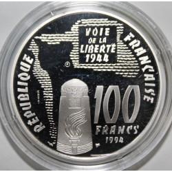 SÉRIE LA LIBERTÉ RETROUVÉE - 100 FRANCS 1994 SAINTE MERE L'ÉGLISE - ESSAI - KM 1043
