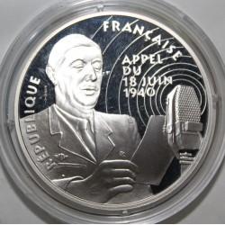 SÉRIE LA LIBERTÉ RETROUVÉE - 100 FRANCS 1994 DE GAULLE - APPEL DU 18 JUIN 1940 - ESSAI - KM 1038