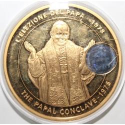 MEDAILLE - JEAN PAUL II - 1978-2005 - LE CONCLAVE PAPAL DE 1978 - BRONZE FLORENTIN