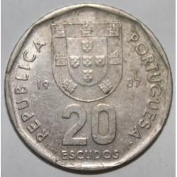 PORTUGAL - KM 634 - 20 ESCUDOS 1987