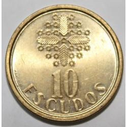 PORTUGAL - KM 633 - 10 ESCUDOS 1988