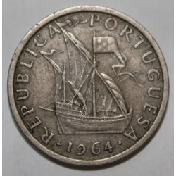 PORTUGAL - KM 591 - 5 ESCUDOS 1964 - BATEAU