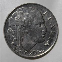 ITALIE - KM 75 b - 20 CENTESIMI 1940 - VICTOR EMMANUEL III