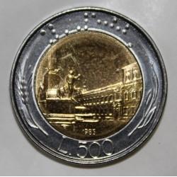 ITALIE - KM 111 - 500 LIRE 1985 - PIECE COURANTE