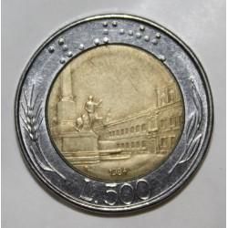 ITALIE - KM 111 - 500 LIRE 1984 - PIECE COURANTE