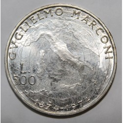 ITALIE - KM 103 - 500 LIRE 1974 - GUGLIELMO MARCONI