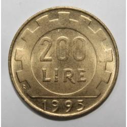 ITALIE - KM 105 - 200 LIRE - 1995 R - PIECE COURANTE