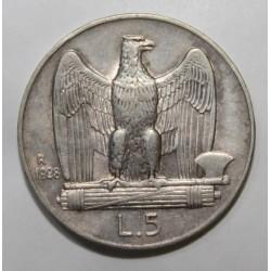 ITALIE - KM 67 - 5 LIRE 1928 R - VICTOR EMMANUEL III