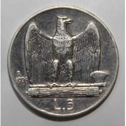 ITALIE - KM 67 - 5 LIRE 1926 R - VICTOR EMMANUEL III