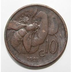 ITALIE - KM 60 - 10 CENTESIMI - 1927 - VICTOR EMMANUEL III