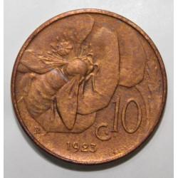 ITALIE - KM 60 - 10 CENTESIMI - 1923 - VICTOR EMMANUEL III