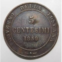 ITALIE - KM 6 - 5 CENTESIMI - 1859 - VICTOR EMMANUEL II